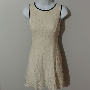 0bd440b3fe69f Max and Riley. White lace dress with lining and black piping BOGO